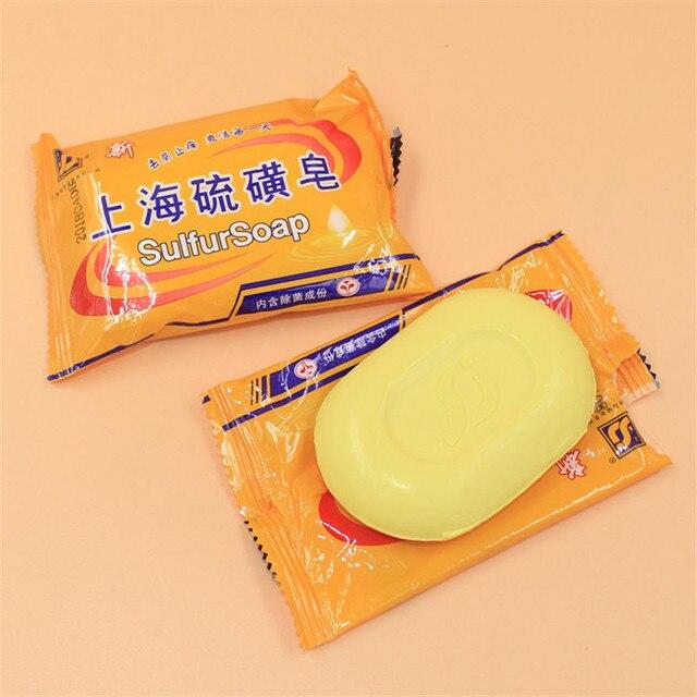 5 pcs 85g Shanghai Sulfur Soap 4 Skin Acne Psoriasis  Conditions  Seborrhea Eczema Anti Fungus Perfume Butter Bubble Bath 1