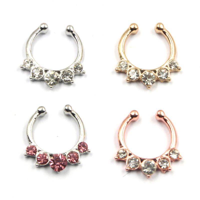 New Fashion Gold Nose Ring Hoop Nose Rings Clip on Body Jewelry ...