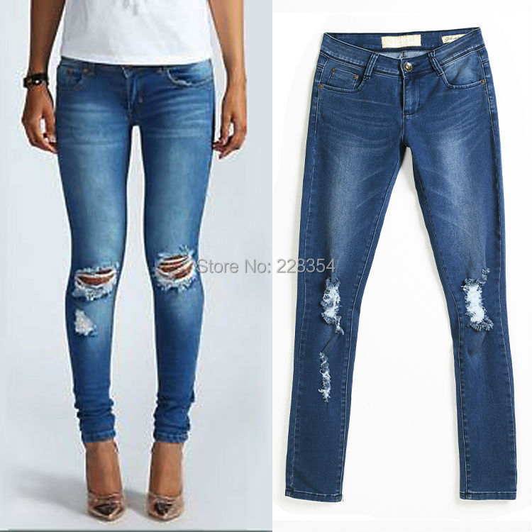 Collection Ripped Skinny Jeans Womens Pictures - Reikian