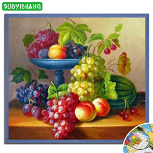 DUOYISHANG 5D DIY Diamond Painting Full Square Embroidery Still Life of Fruits Rhinestones Mosaic Home Decor