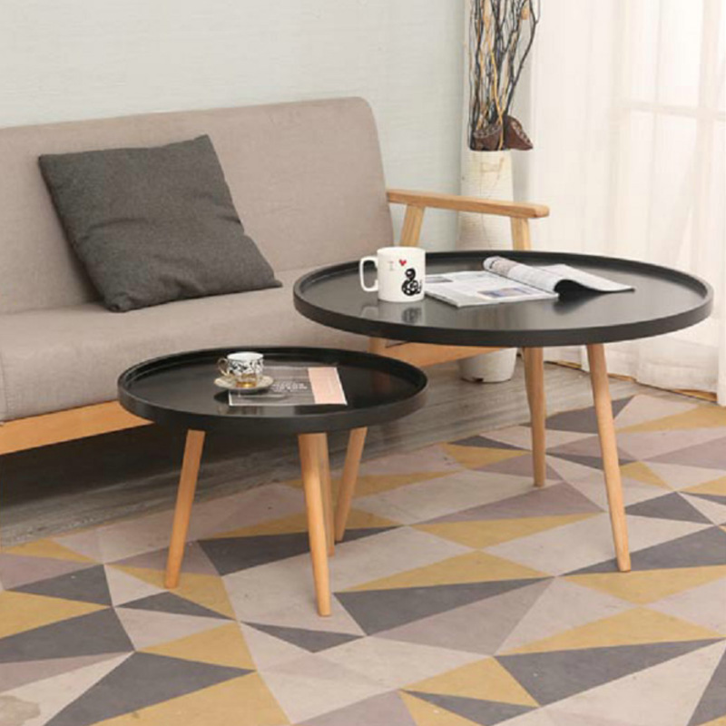European Coffee Table Living Room Solid Wood Creative Coffee Table Coffee Table European leisure Small Round Table Simple dining