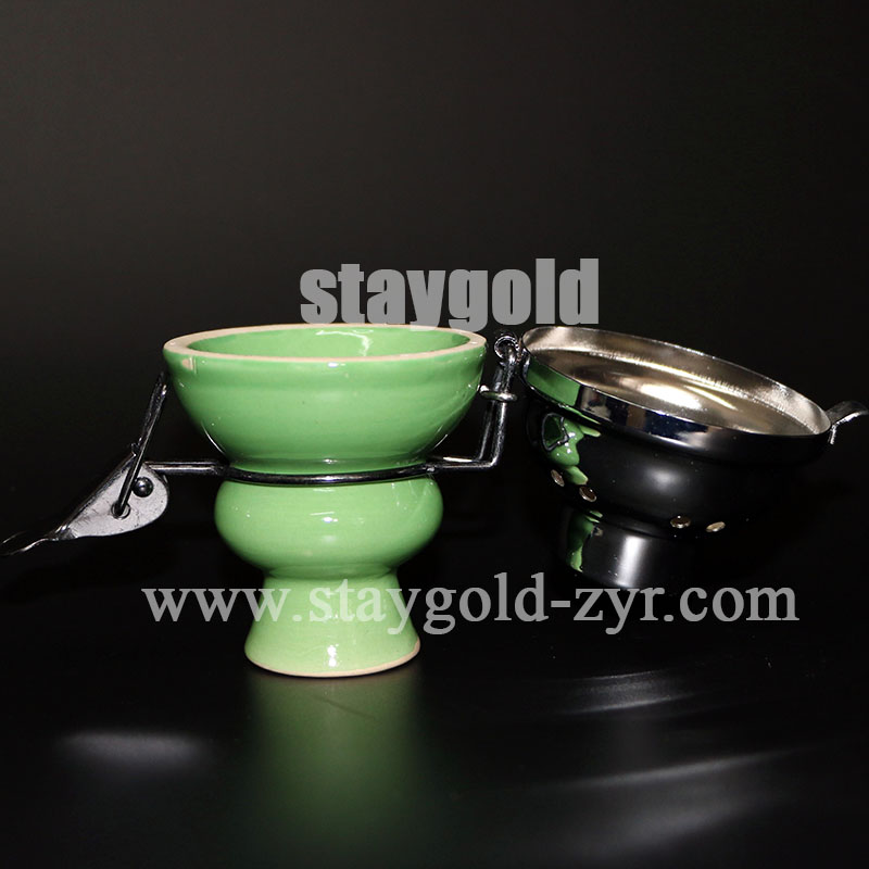 Shisha Hookah Accessory Charcoal Nargile Hookah Ceramic Bowl Windproof Integration Windshield Bowl free shipping