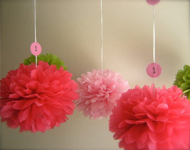 29 Colors Avaiable Red Paper Flowers Balls Party Decorations