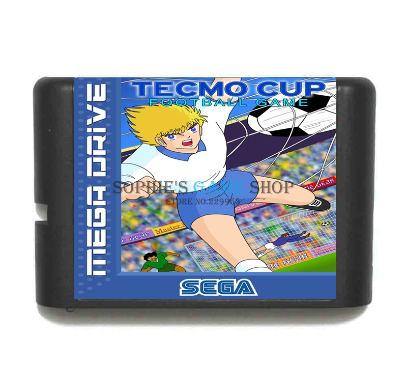 Tecmo Cup Football Game Cartridge Newest 16 bit Game Card For Sega Mega Drive / Genesis System