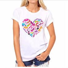 Design Your Own T Shirt Short Printing Machine High Heels  O-Neck Womens Shirts