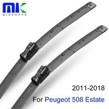 Mikkuppa передние и задние щетки стеклоочистителя для peugeot 508 Estate 2011- лобовое стекло натуральный резиновый авто аксессуары