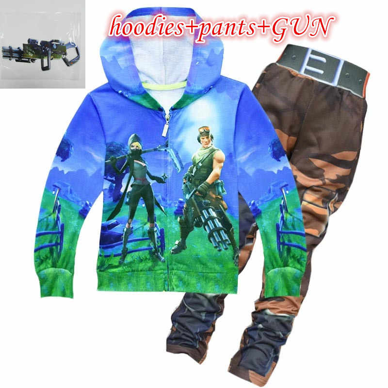 HOT Game Battle Royale Decoration Boy Cosplay Top CHILDREN Bodysuit Top Pants Sets Hoodies Cosplay Costume For Kids Sets