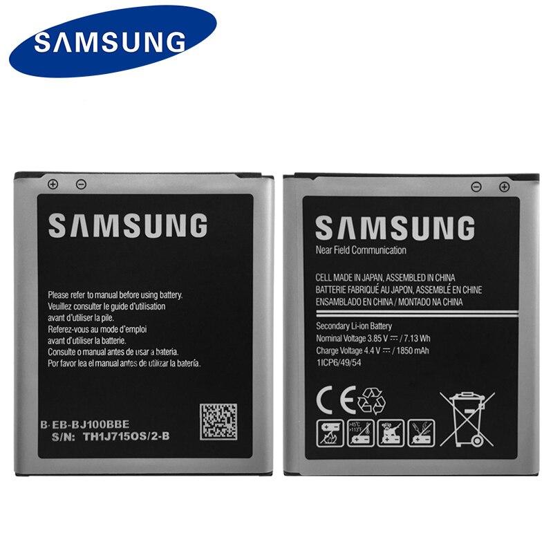 EB-BJ100BBE originais 1850 mAh Da Bateria Samsung Para Samsung Galaxy J1 (VERSÃO 2015) j100 J100F J100H J100FN J100M J100D Com NFC