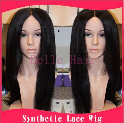 Tyra Banks Japan: African American Women Yaki Straight Synthetic Lace Front