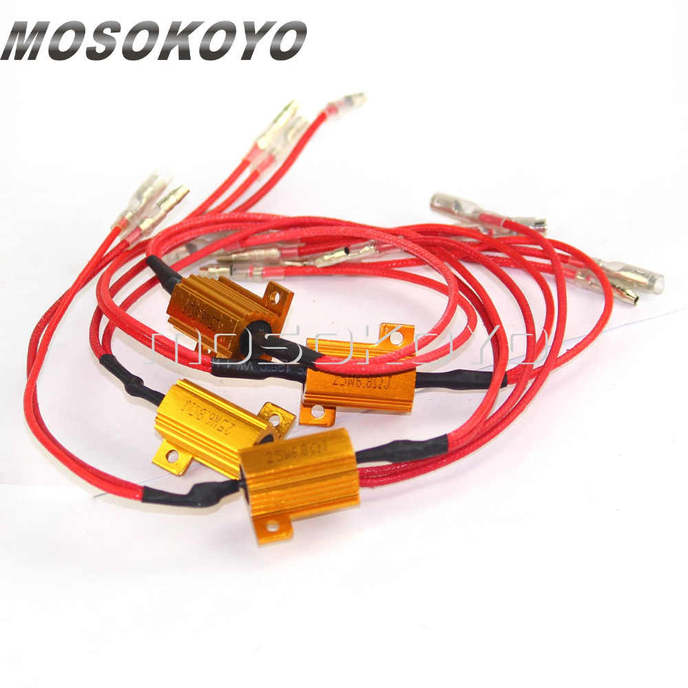 Detail Feedback Questions About 4 Pcs Motorbike Motorcycle Turn Installing Led Load Resistor Wiring Harness In A Bmw 4pcs Signal Light 25 W 68 Ohms Power Resistance Indicator Flasher