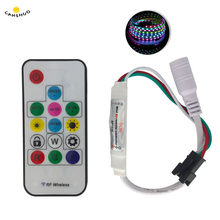 DC 5V SP103E Digital 14Key RGB control remoto inalámbrico Mini RF LED controlador WS2812 300 tipos de cambio de Color para WS 2812b tira de luz LED(China)