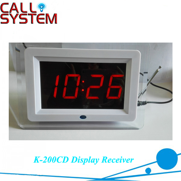 Wireless Table Number Calling System Display Receiver K-200CD For Cafe Restaurant wireless pager service calling system for restaurant salon beauty table with d3 bell x25pcs and display receiver p 2000 x1pcs