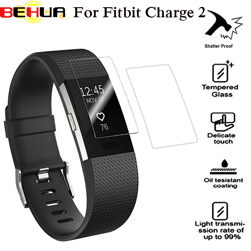 BEHUA HD Screen Protector Film For Fitbit Charge 2 charge2 Bracelet TPU Ultra Thin Explosion guard Film Smartwatch accessoires