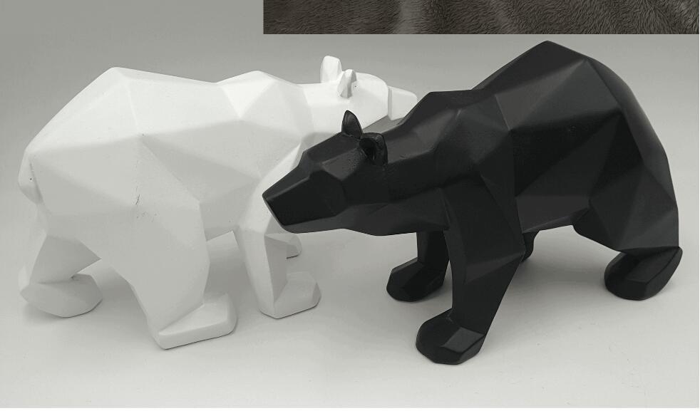 Black Panther Skulptur geometrische Harz Leopard Statue Wildlife - Wohnkultur - Foto 5