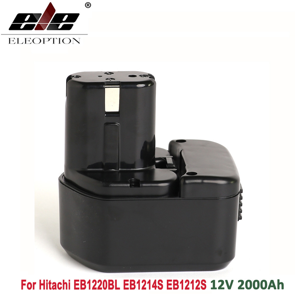 ELEOPTION 12V 2 0Ah 2000mAh Battery for Hitachi EB1220BL EB1214S EB1212S WR12DMR CD4D DH15DV C5D in Replacement Batteries from Consumer Electronics