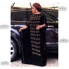 Новинка, Африканский бриллиант, хлопок, шифон, длинное Дашики платье для леди, Длина: 140 см, ширина: 115 см(Цзуань