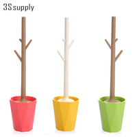 Branch Design PP PS Toilet Brush With Funny Base Household Cleaning Tool Strong Detersive Power Durable