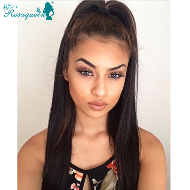Indian Virgin Hair Full Lace Human Hair Wigs For Black Women With Baby Hair Silk Top Wig 7A Straight Front And Full Lace Wigs