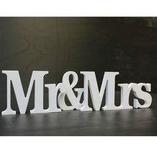 Wedding Reception Sign Wooden Letters Mr & Mrs Table Centrepiece