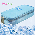 Insulin colder box. Diabetes Travel mini portable insulin cooler storage bag 4pcs refrigerant Temperature displayed