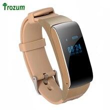 TROZUM Деловых и Спортивных Bluetooth Умный Браслет Часы Горячая DF22 HiFi Звук Гарнитуры Цифровой Запястье Шагомер Для IOS Android
