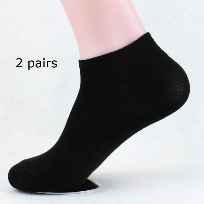 ae0985b39 2 Pairs Summer Men Ankle High Socks Stylish Mens Boys 100% Cotton Flexible  Stretchy Casual