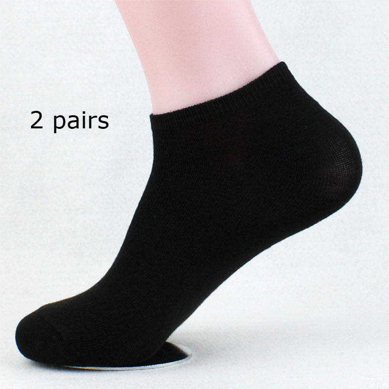 2 Pairs Summer Men Ankle High Socks Stylish Mens Boys 100% Cotton Flexible Stretchy Casual Socks tracksuit for Men