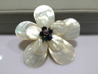 Natural Sea Shell Flower Brooches Pins For Women Jewelry Brooch Bouquest Free Shipping Freshwater pearls corsage brooches