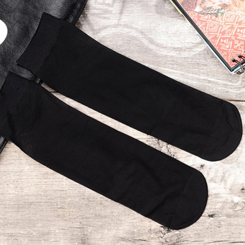 2Pairs Summer bamboo female Short Socks Women 39 s Thin Crystal Sock Transparent Thin Silk Socks for girl in Socks from Underwear amp Sleepwears