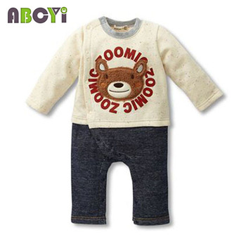 100% Cotton Baby rompers legged long sleeves baby clothing newborn cartoon Elephan Giraffe baby boy clothes girls roupas bebes 3