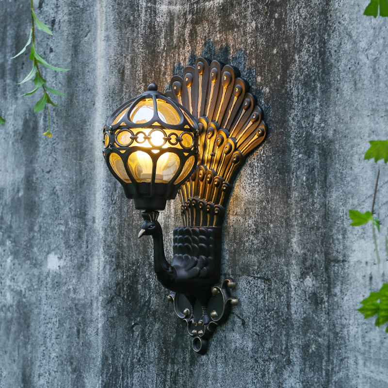 Europe Retro Hotel Club Wall Lamp Waterproof Garden Lights
