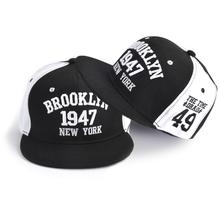 Hot Letter Embroidery Couple Baseball Caps Flat Snapback Hip Pop Caps For Women Panel Full Cap