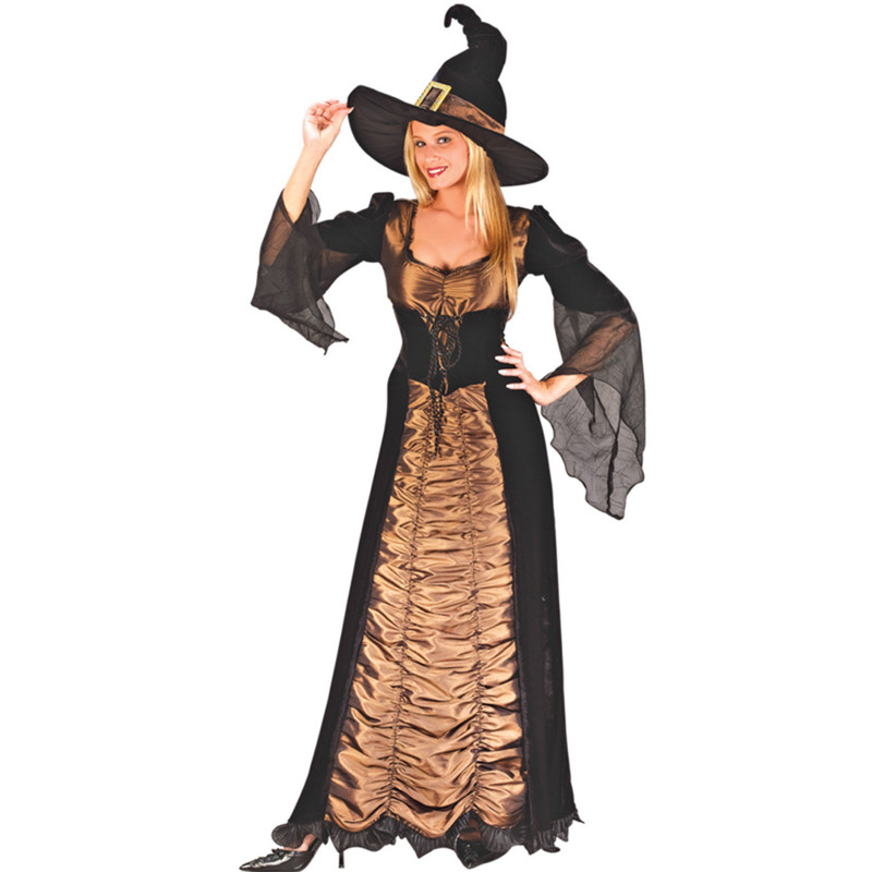 new Luxury Witch Costume Halloween Christmas Carnival clothing Fantasia Infantil Adult Fairy Costume Vampire Cosplay Party Dress