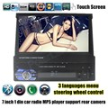 Car styling 7 inch Auto Radio MP5 MP4 Player Stereo Video 1 din USB/TF Bluetooth FM Audio touch screen steering wheel control