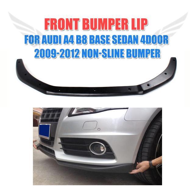 Front Bumper Diffuser Lip Spoiler For Audi A4 B8 Sedan 4 Door Non