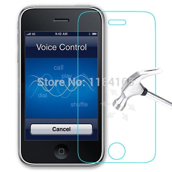 imágenes para 10 unids/lote 9 h 2.5d templado cinta cristal para iphone 3gs lcd frontal protector de pantalla a prueba de explosiones envío gratis pelicula de vidro