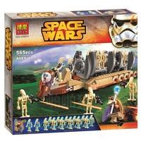 Bela 565pcs 10374 Star Wars Battle Droid Troop Carrier Building Blocks Bricks Toys