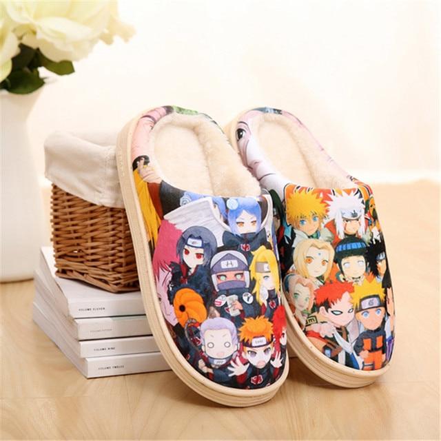 Naruto Akatsuki Dragon Ball One Piece Warm Men Women Shoes Slip