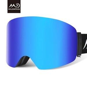 Image 2 - купон  65,78 руб Wildmtain Горнолыжные Очки с Антизапотевающее внутреннее покрытие и 100% от ультрафиолетового A B C излучения до 400нм сноуборда лыжные очки