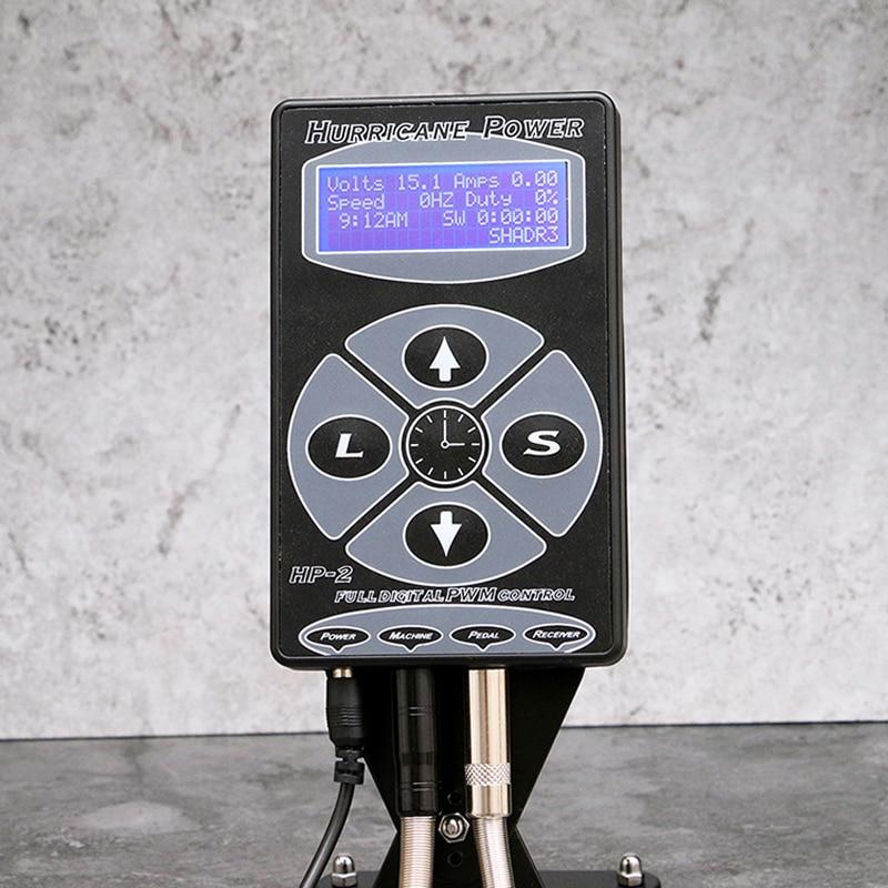 Hot High Quality HP-2 Hurricane Tattoo Power Supply Digital Dual LCD Display Tattoo Power Supply Machines For Tattoo Machines