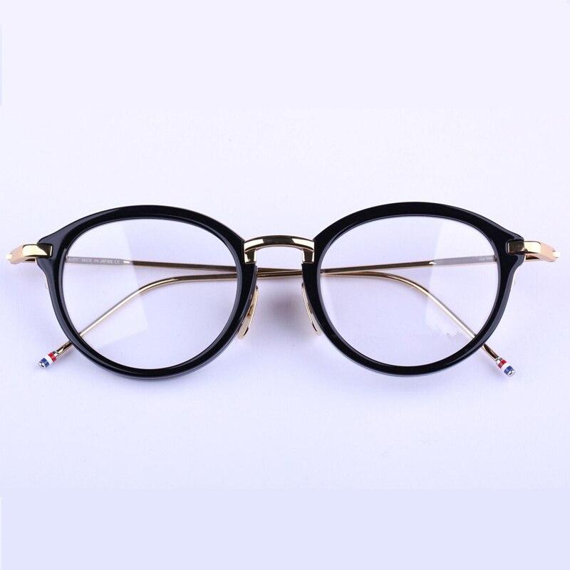 Vintage TB011 montures rondes unisexe montures de lunettes prescription lunettes pour femmes hommes avec logo et boîte d'origine