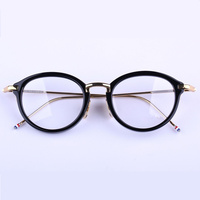 Vintage TB011 round frames unisex eyeglasses frames prescription eyewear for women men with logo and original box