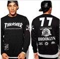 thrasher crewneck hoodie men hip hop 77 thrasher sweatshirt palace skateboards poleron hombre sudaderas hombre moleton masculino