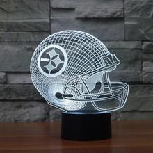 Football Fashion Team Cap Helmet 3D Night Light Atmosphere Gradient Visual Lighting Sports Fans Lamp Illusion Lampara Xmas Gift