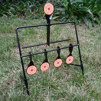 5 Plate Reset Shooting Target Tactical Metal Made Slingshot BB Gun Airsoft Paintball Archery Hunting Outdoor