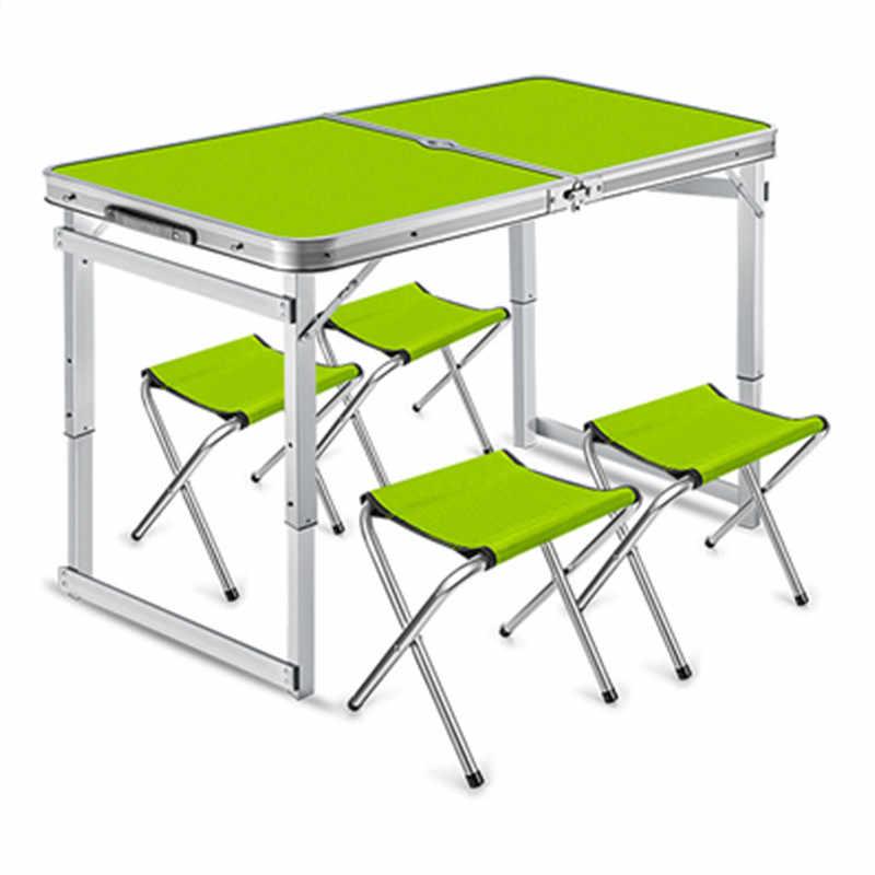 Mesa de comedor de cocina plegable portátil al aire libre Etabli Pliant  aleación de aluminio estable Mesa de Camping mesas plegables con taburetes