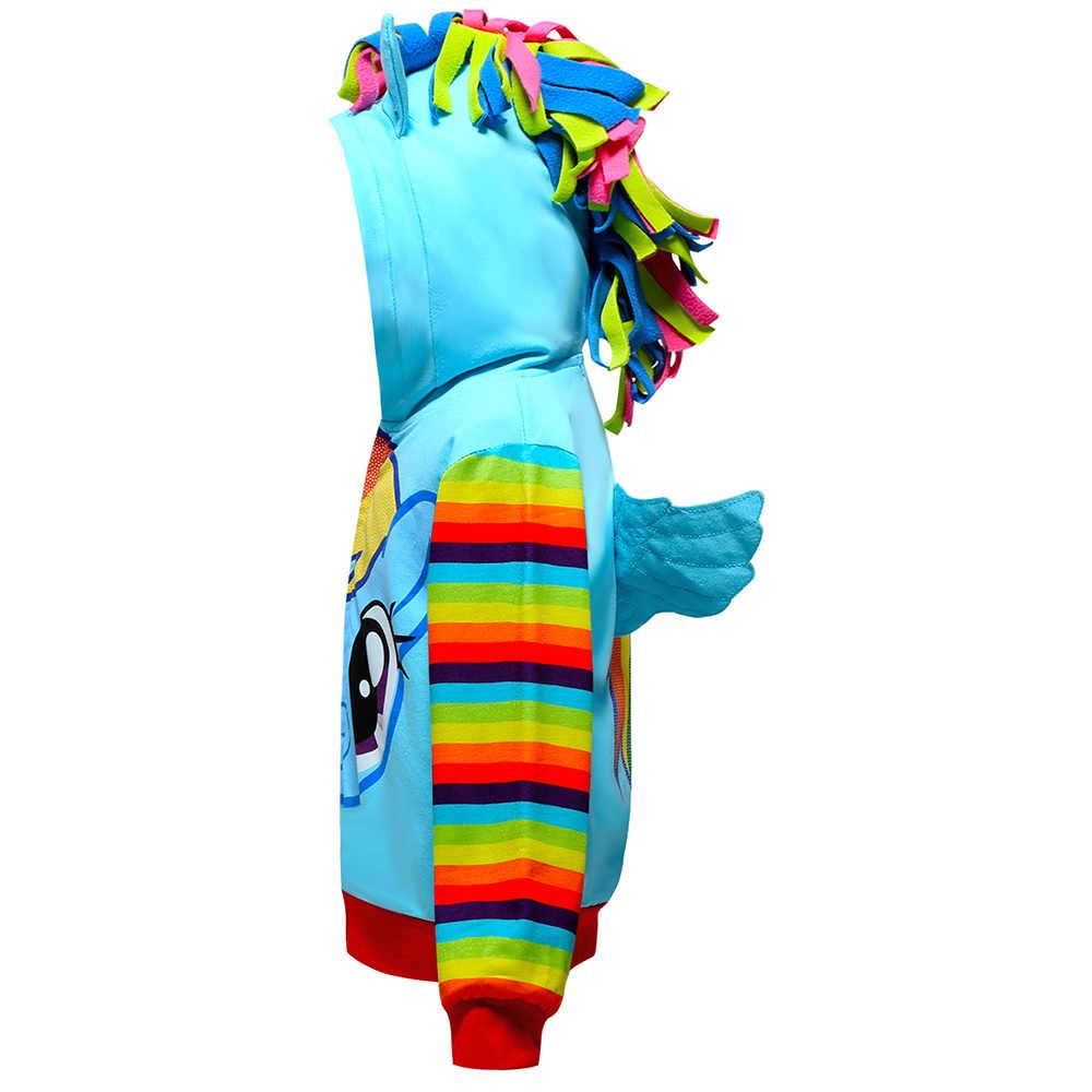 Весенняя Детская куртка для девочек, многоцветная куртка, новые детские пальто с радужным принтом для девочек, единорог, Детское пальто с капюшоном для маленьких мальчиков, детская одежда
