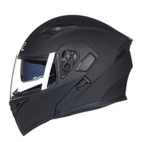 Flip Up Motorcycle Helmet With Inner Sun Visor Safety Double Lens Racing Full Face Helmets Can