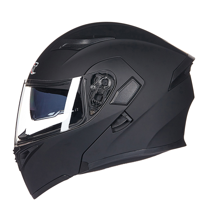Flip up motorcycle helmet With Inner Sun Visor Safety Double Lens Racing Full Face Helmets can put bluetooth headset for top gear the stig helmet with silver visor tg collectable like simpson pig yellow motorcycle helmet you re the stig