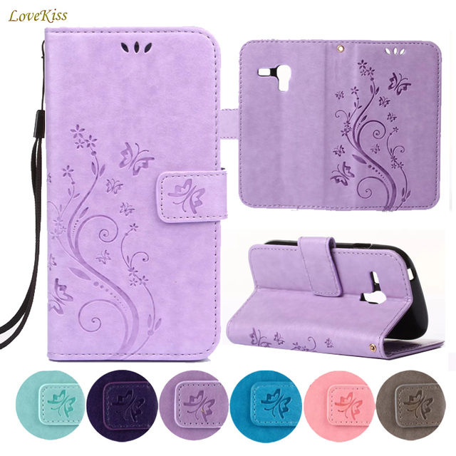 Flower Wallet Leather Case For Samsung Galaxy S3 mini SIII Mini S3Mini GT i8190 GT-i8190 Cases Back Cover Phone Bag Holder Capa